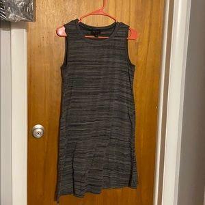 Gray Shift/Flare Dress w/ Pockets